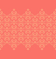 coral and yellow baroque style damask border vector image vector image