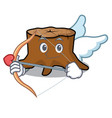cupid tree stump character cartoon vector image vector image