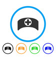 doctor cap rounded icon vector image vector image