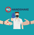 doctor show stop hand sign vector image