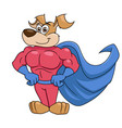 dog is super hero 2 vector image vector image