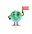 earth planet ask sos vector image vector image