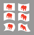 elephant flag republican national flag of vector image vector image
