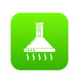 exhaust icon green vector image vector image