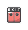 exit double doors icon cartoon vector image