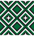 Fashion geometrical pattern in emerald vector image vector image