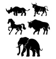 Five Power Animals vector image vector image