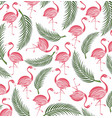 flamingo seamless background vector image