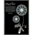 flower card design vector image vector image
