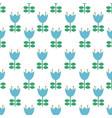 folk art pattern - scandinavian nordic vector image