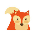 forest fox animal wildlife nature fauna vector image vector image