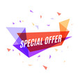 Geometrical colorful banner special offer speech