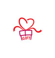 gift love abstract logo vector image