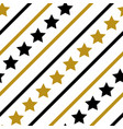 gold black line star decor seamless pattern vector image