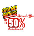 grabd opening opening day vector image vector image