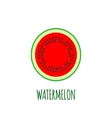 Half of watermelon Icon in flat style vector image