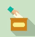 hand put in election box icon flat style vector image
