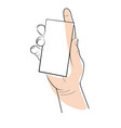 hands holding object template isolated line icon vector image