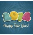 Happy Retro New Year 2014 vector image vector image