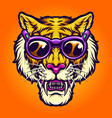 happy tiger summer vacation holiday vector image vector image