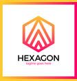 hexa letter a logo vector image