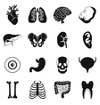 Human organs icons set simple style vector image vector image