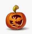 jack-o-lantern spooky bats vector image vector image