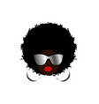 kinky curly afro hair african woman sunglasses vector image vector image