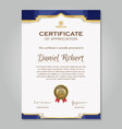 luxury golden certificate template vector image vector image