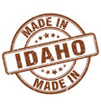 made in idaho brown grunge round stamp vector image vector image