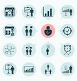 management icons set with time management vector image vector image