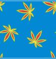 marijuana flag colour seamless pattern vector image vector image