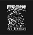 motocross sport challenge vector image