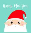 new year santa claus face head icon set merry vector image vector image