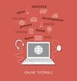 online tutorials vector image vector image