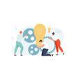 people team create an idea vector image vector image