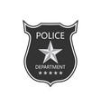 police department badge shield cop badge vector image vector image