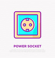 power socket thin line icon vector image