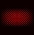 quilted red background vector image vector image