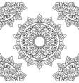 seamless pattern mandala ornament floral mandala vector image