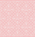seamless pattern of knitted lace white hinges and vector image vector image
