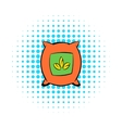 Seeds bag icon comics style vector image vector image