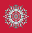 simple silver circular pattern on red background vector image vector image