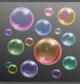 soap bubbles realistic transparent vector image vector image