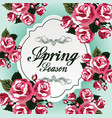 spring season with red flowers vector image