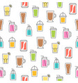 summer beverage theme seamless pattern for vector image vector image