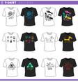 t shirt concept designs set vector image vector image