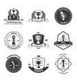 trophy awards emblems set vector image vector image