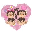 Two Monkeys vector image vector image