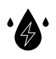water energy glyph icon vector image vector image
